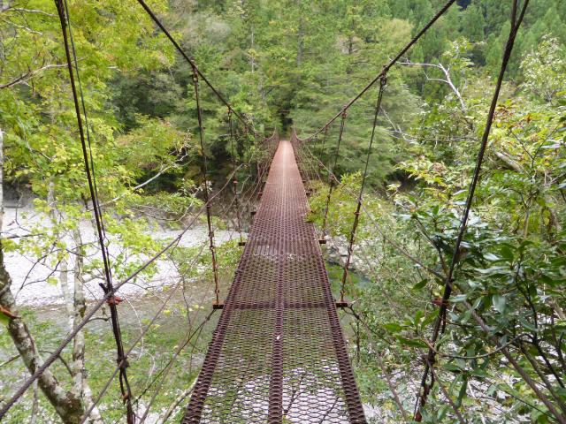 南川の吊橋2c