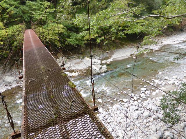 南川の吊橋3j
