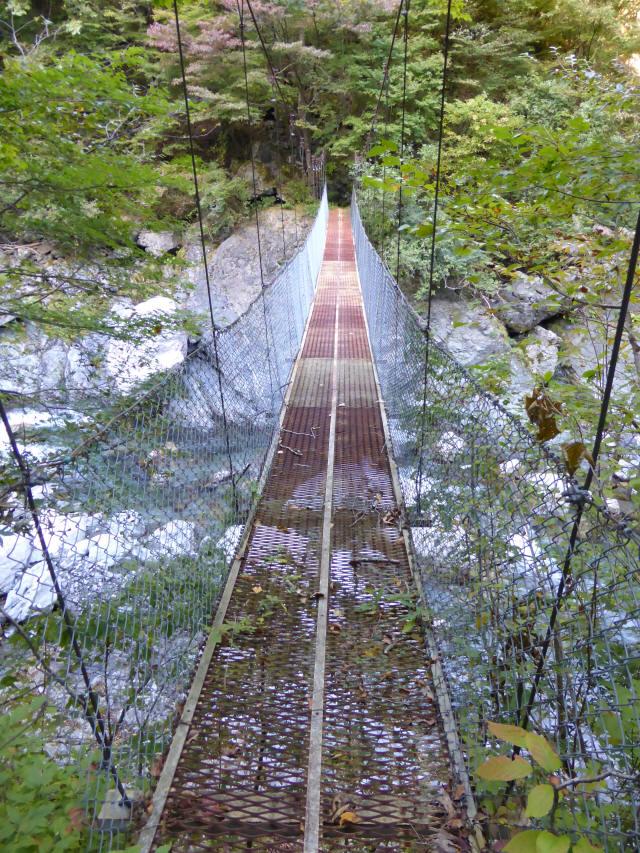 にくぶち滝の吊橋3
