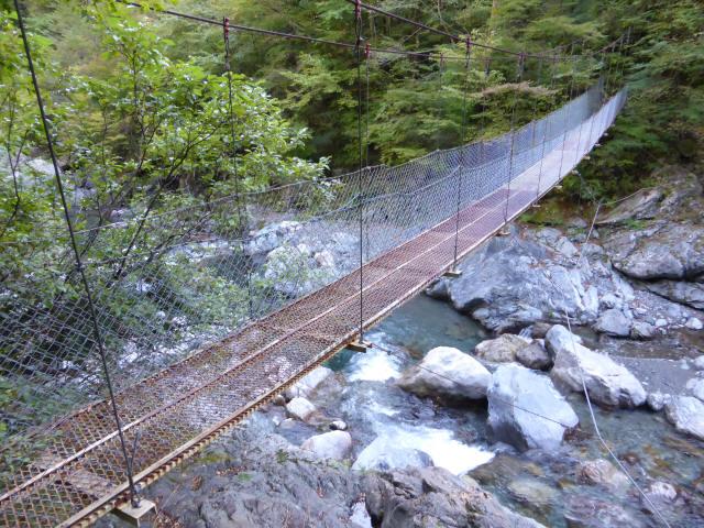 にくぶち滝の吊橋4