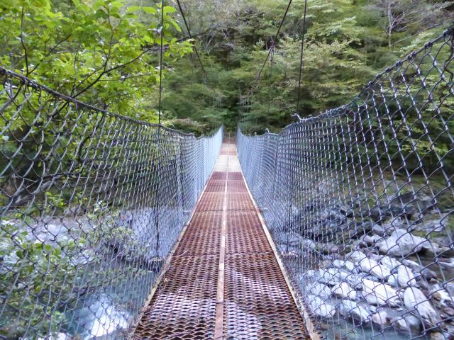 にくぶち滝の吊橋5