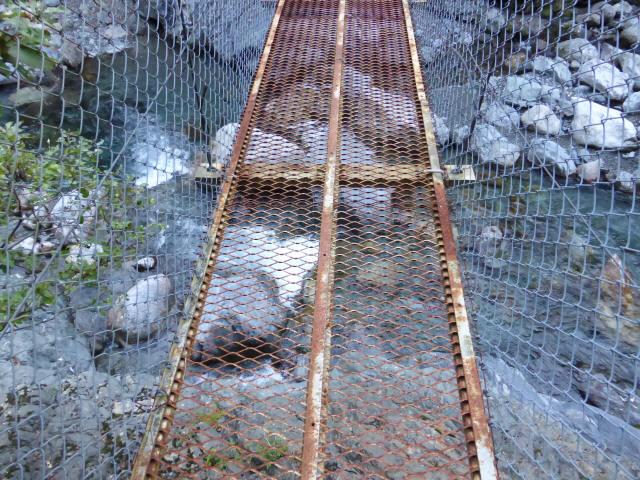 にくぶち滝の吊橋6