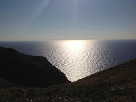 赤岩園地海夕暮れ