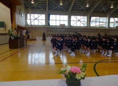 田上小の入学式