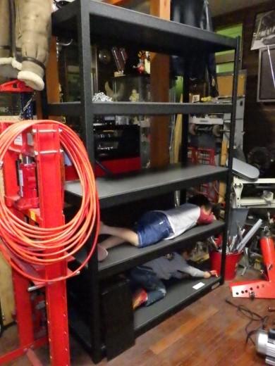 ガレージ棚設置 (8)
