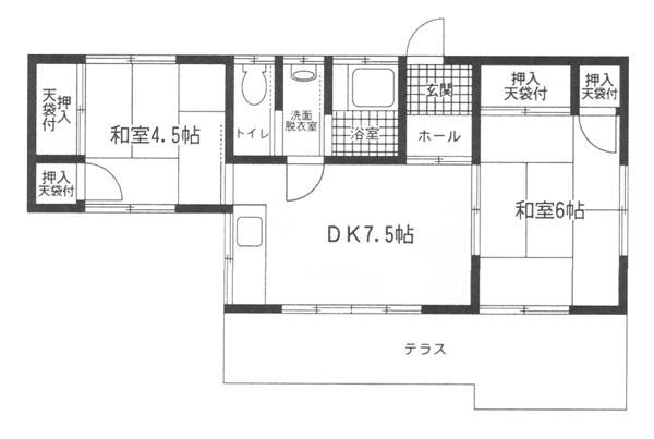 ■物件番号4257 昭和レトロ平屋!ペット相談可!松が丘エリア!専用庭付!2DK!43平米!家賃7万円!