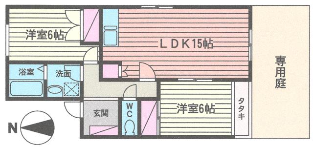 ■物件番号4262 庭付き2LDKマンション入荷!人気の東海岸南!海10分!駅13分!10.2万円!