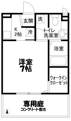 ■物件番号4263 海5分!庭付1K入荷!広い庭付!屋外シャワー完備!ウォークインクローゼット完備!5.8万円!り