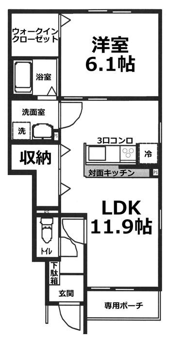 ■物件番号4392 辻堂海側!1LDK+ウォークインクローゼット!都市ガス!対面キッチン!追焚き!8.5万円!