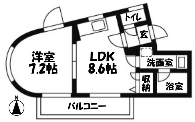 ■物件番号4400 駅も海も歩ける!オートロック付マンション!8万円!1LDKタイプ!日当り・眺望良好!!