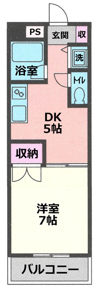 ■物件番号P4415 希少なネコも犬もOK!ペット可マンション!1DK!広めの28平米!3階!お手頃5.2万円!