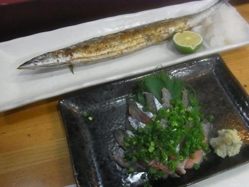 秋刀魚焼きと刺身