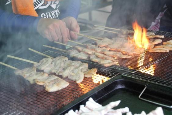 ローズポーク串焼き
