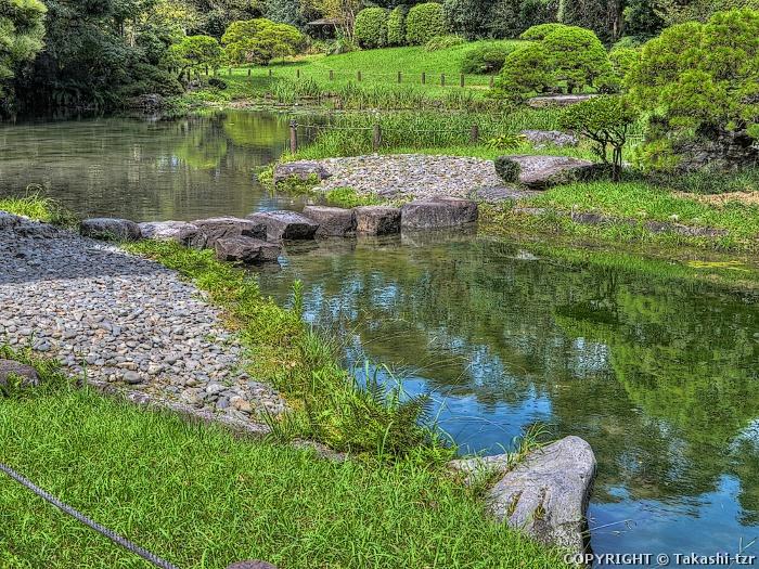 旧熊本藩八代城主浜御茶屋(松浜軒)庭園