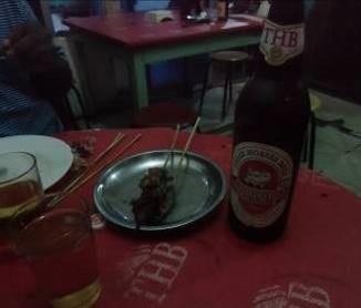 焼肉とTHBビール