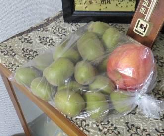 リンゴでキウイの熟化