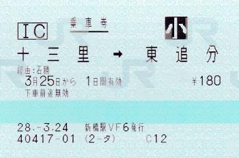 ⑧冨里→東追分