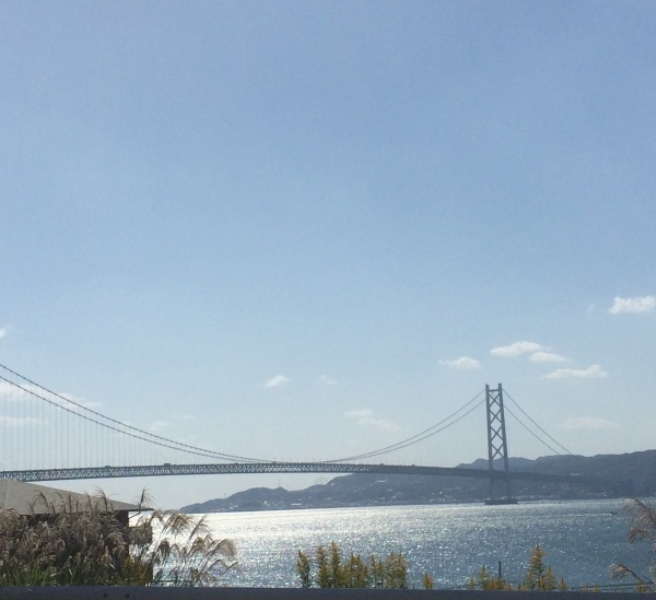 ススキと明石海峡大橋