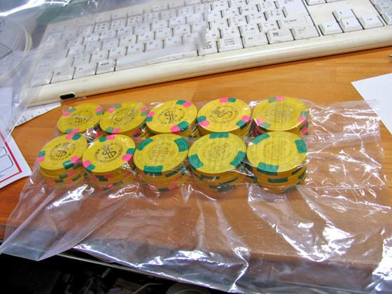 ポーカーチップ包装