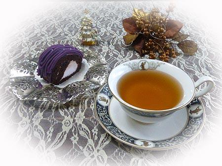 ティ-タイム2 紫芋ロ-ル