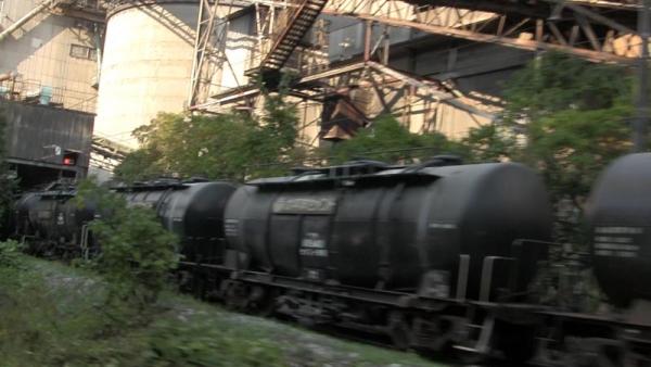 セメント荷役線(ビデオからのキャプチャ)