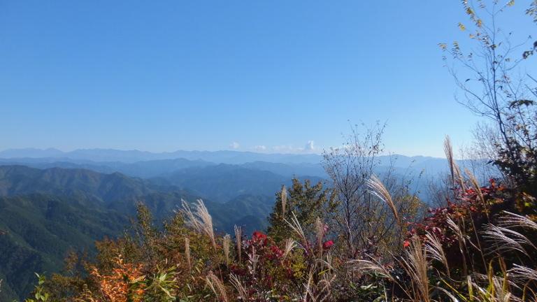 大鈴山頂上からの風景