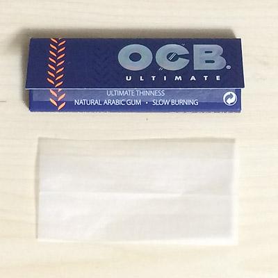 OCB_ULTIMATE OCB オーシービー・アルティメイト・シングル オーシービー 手巻きタバコ 巻紙 ローリングペーパー 薄紙 スローバーニング 世界史上最薄巻紙 RYO