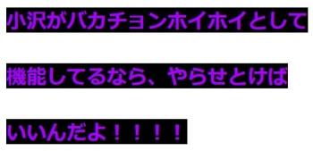 ten小沢がバカチョンホイホイとして機能してるなら、やらせとけばいいんだよ