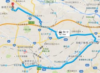 map高幡不動尊 金剛寺