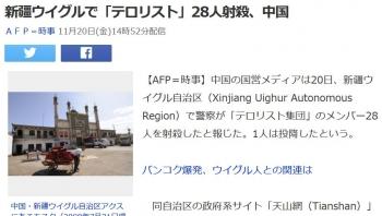 news新疆ウイグルで「テロリスト」28人射殺、中国