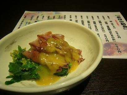 菜の花とホタルイカの酢味噌かけ (3)