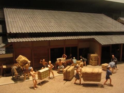 二川宿問屋場模型