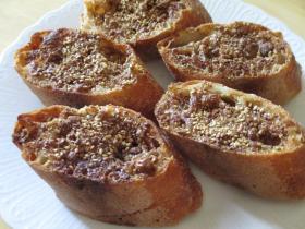 胡麻と黒糖の蜂蜜トースト