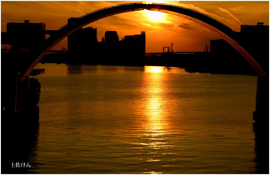 安治川大橋夕景1