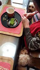 京都 吉祥庵 抹茶チョコケーキで3