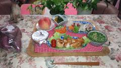 晩御飯 鶏とタタキ