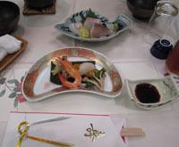 祝賀会 お料理1