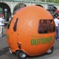 オレンジ型の乗り物