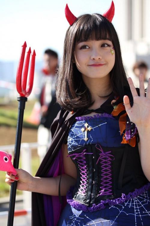 橋本環奈、ハロウィンのコスプレが可愛すぎる!www2
