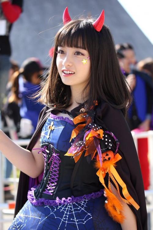橋本環奈、ハロウィンのコスプレが可愛すぎる!www1