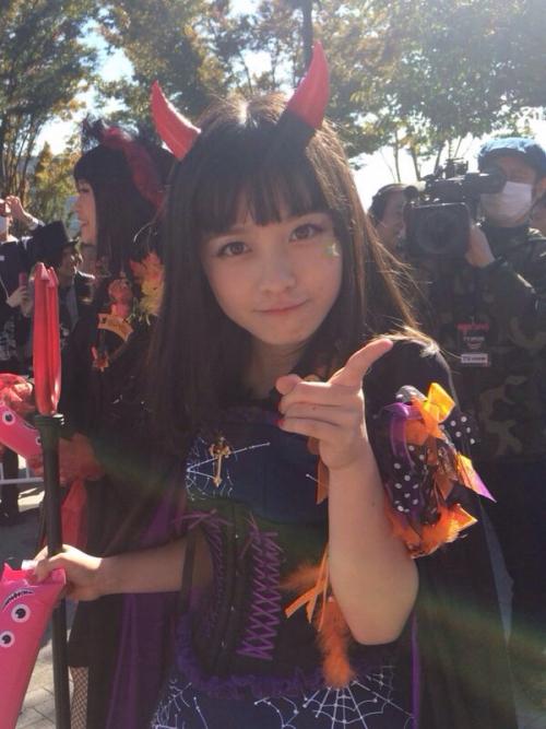 橋本環奈、ハロウィンのコスプレが可愛すぎる!www7