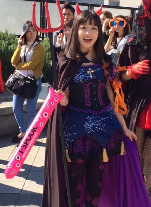 橋本環奈、ハロウィンのコスプレが可愛すぎる!www11