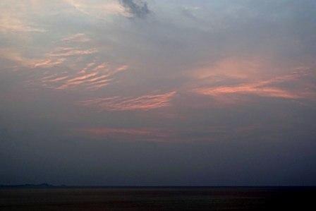夕焼3月30日18時57分日没2分前 DSC04971