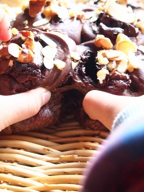 ココアチョコロールのちぎりパン6