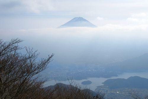山頂付近からみた富士