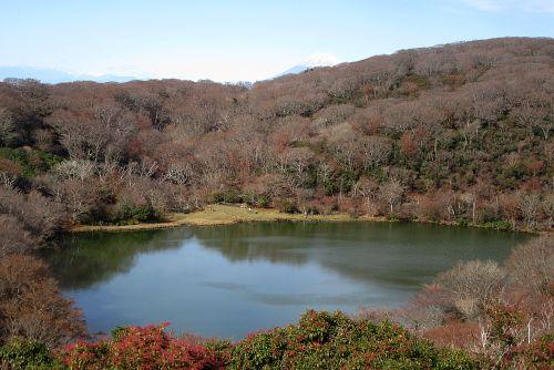 八丁池と富士山