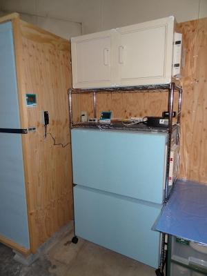 自作冷温庫設置状況