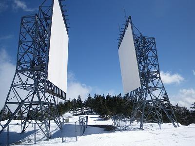 鉢盛山頂上の反射板