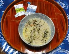 朝食は雑炊20151109