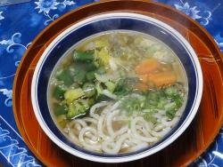 昼の野菜うどん20160316